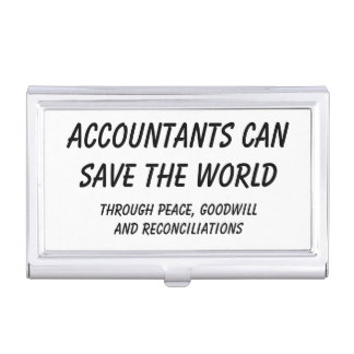 Accountants can save the world business card case