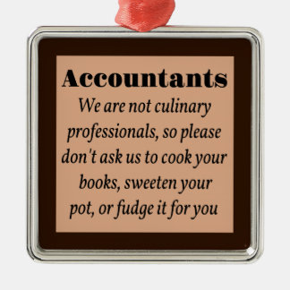 Accountants, Cook the Books Christmas Tree Ornaments