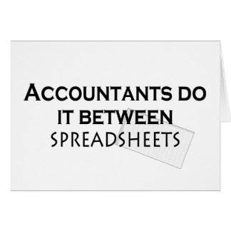 Accountants do it! card