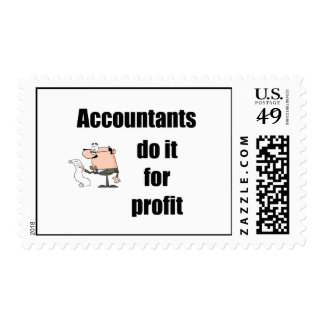 accountants do it for profit postage stamp