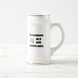 accountants do it with double entry beer stein