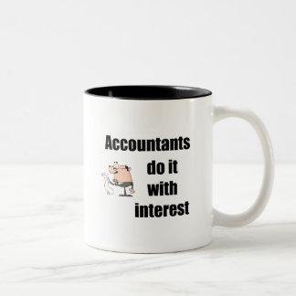 Accountants do it with interest Two-Tone coffee mug