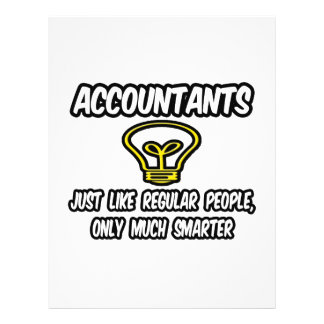 Accountants...Like Regular People, Only Smarter Personalized Flyer
