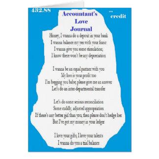 Accountant's Love Journal Card