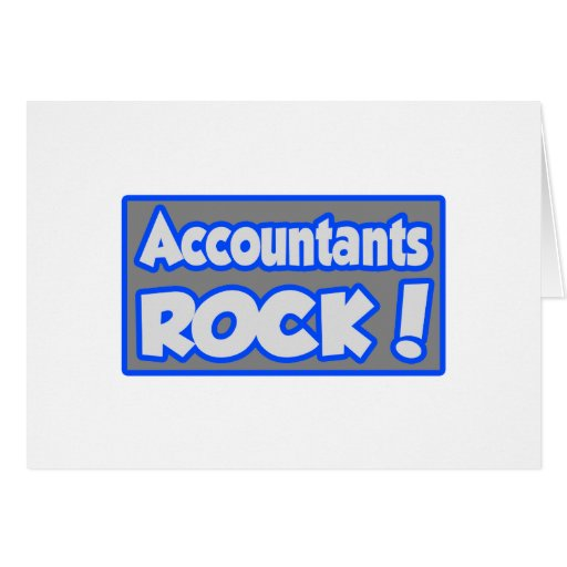 Accountants Rock! Greeting Card
