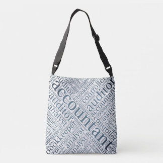 """Accountants' Word Cloud"" Crossbody Bag"
