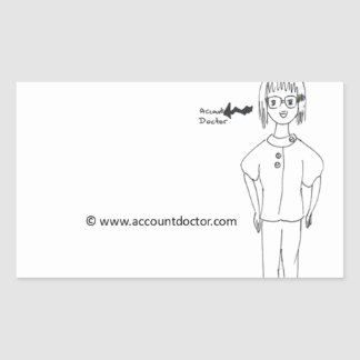 AccountDoctor Rectangle Stickers