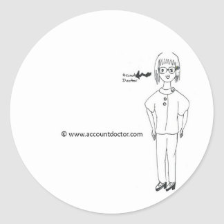 AccountDoctor Round Stickers