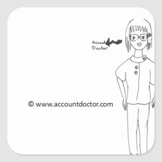 AccountDoctor Square Stickers