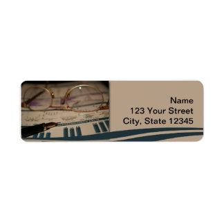 Accounting 1 return address label