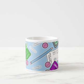 Accounting / Accountant Themed Pattern Espresso Cup