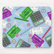 Accounting / Accountant Themed Pattern Mouse Pad