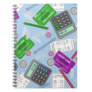 Accounting / Accountant Themed Pattern Notebook