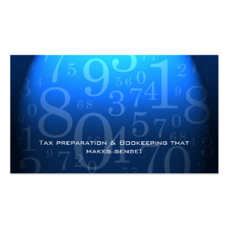 Accounting - Bookkeeping Business Card Blue