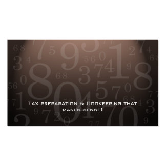 Accounting - Bookkeeping Business Card Brown