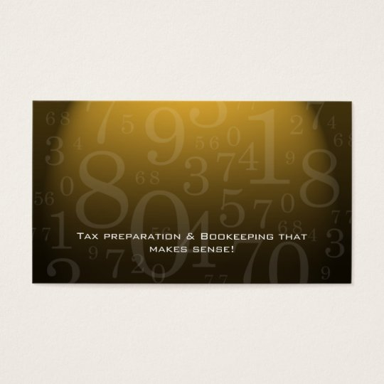 Accounting - Bookkeeping Business Card Gold