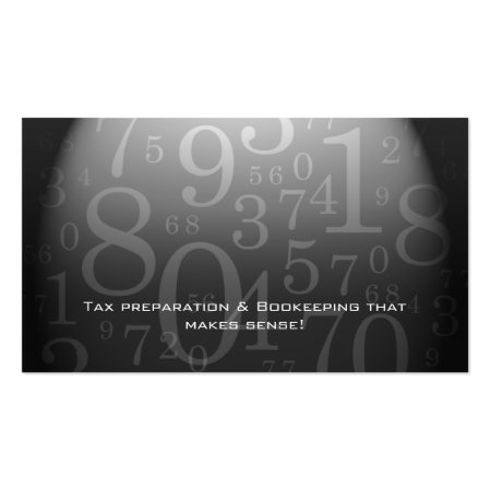 Accounting - Bookkeeping Business Card Gray Numbers Profilecards