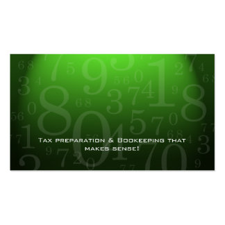 Accounting - Bookkeeping Business Card Green