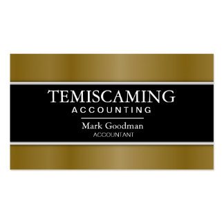 Accounting Business Card - Banner Black & Gold