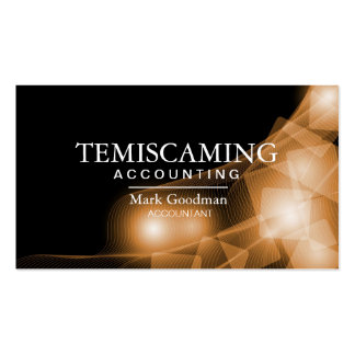 Accounting Business Card - Black and Gold Squares