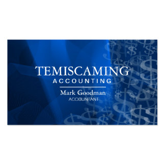 Accounting Business Card - Blue Dollar Signs