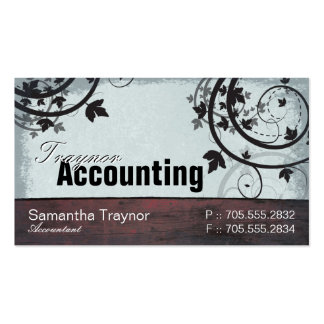 Accounting Business Card - Vintage Barn Board