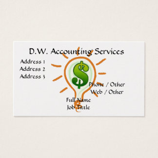 ACCOUNTING / BUSINESS SERVICES PHOTO BUSINESS CARD