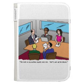 Accounting Cartoon Kindle Case