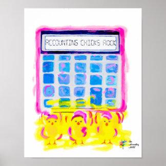 Accounting Chicks Rock Art Poster