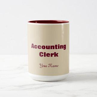 """ACCOUNTING CLERK"" Two-Tone COFFEE MUG"