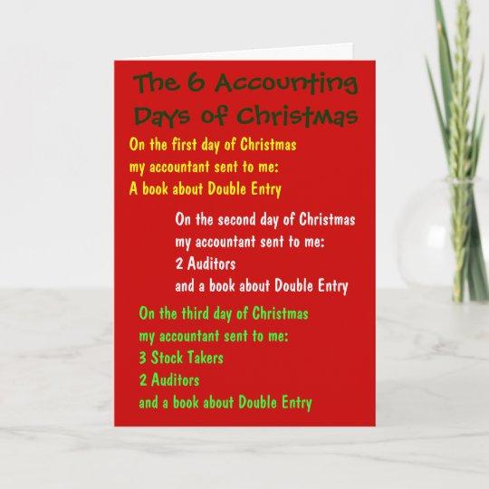 Christmas Accounting Jokes.Accounting Days Of Christmas Accountant Joke Song Holiday Card