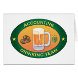 Accounting Drinking Team Greeting Card
