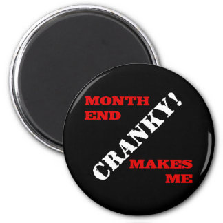Accounting & Finance Month End Approval Stamp 2 Inch Round Magnet