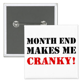 Accounting & Finance Month End Approval Stamp 2 Inch Square Button