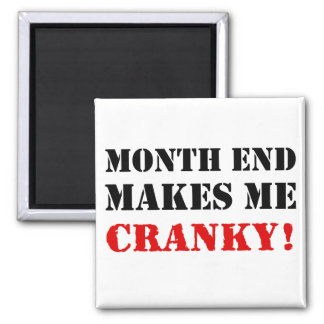 Accounting & Finance Month End Approval Stamp 2 Inch Square Magnet