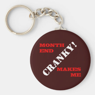 Accounting & Finance Month End Approval Stamp Basic Round Button Keychain