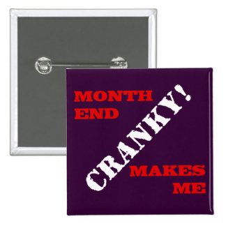 Accounting & Finance Month End Approval Stamp Pinback Button