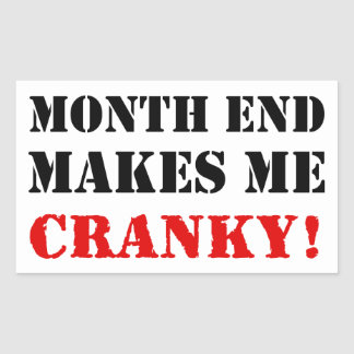 Accounting & Finance Month End Approval Stamp Rectangular Sticker