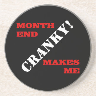 Accounting & Finance Month End Approval Stamp Sandstone Coaster