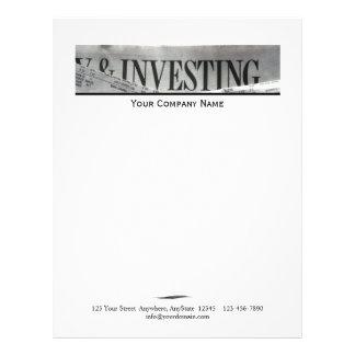 Accounting Investing Headline Letterhead