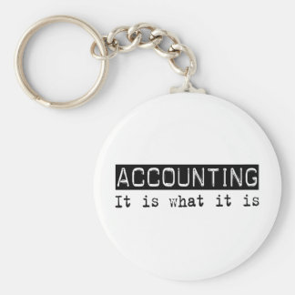 Accounting It Is Basic Round Button Keychain