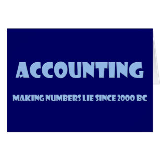 Accounting makes numbers lie card