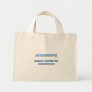 Accounting makes numbers lie mini tote bag