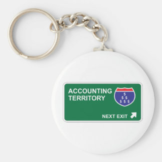 Accounting Next Exit Basic Round Button Keychain