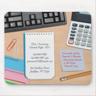 Accounting / Office Desk Background Mousepad mousepad