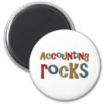 Accounting Rocks 2 Inch Round Magnet