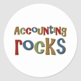 Accounting Rocks Classic Round Sticker