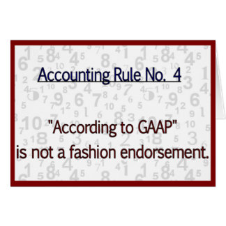 Accounting Rule GAAP Greeting Cards