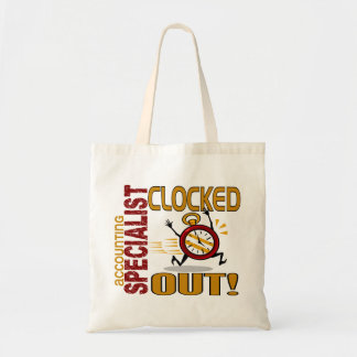 Accounting Specialist Clocked Out Bags