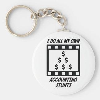 Accounting Stunts Basic Round Button Keychain